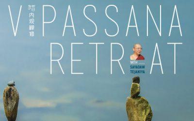 3-day Vipassana Retreat with Sayadaw Tejaniya