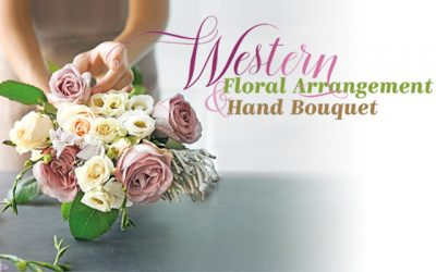 Western Floral Arrangement & Hand Bouquet